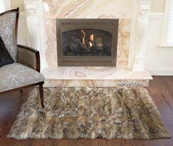 Meiman Luxury Faux Fur Area Rug Color: Amber Fox