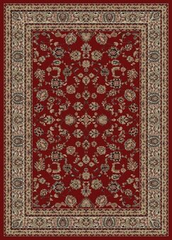 Heritage Elegant Keshan Claret Area Rug Rug Size: Rectangle 9'3