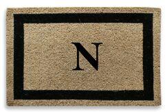 Classic Border Monogrammed Doormat Letter: N