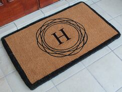 First Impression Kepano Abstract Circle Monogrammed Doormat Letter: H