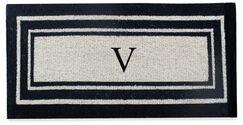 First Impression Westwood Border Monogrammed Doormat Letter: V