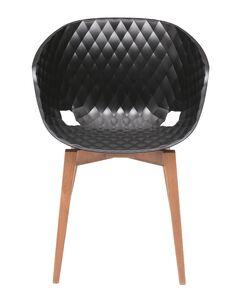 Uni-Ka Side Chair Finish: Beech Wenge/Anthracite