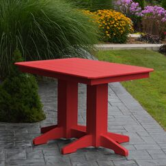 Nettie Dining Table Color: Bright Red, Table Size: 48