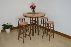 Hickory 5 Piece Solid Wood Dining Set