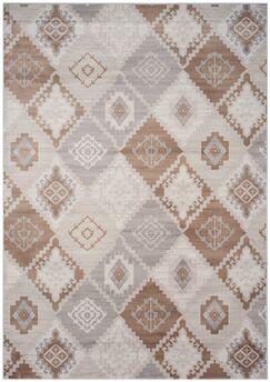 Abrahamic Cream / Camel Area Rug Rug Size: Rectangle 4' x 5'7