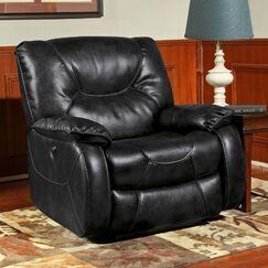 Cornelison Power Recliner Upholstery: Black