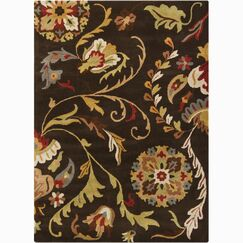 Jonas Brown Area Rug Rug Size: Rectangle 9' x 13'