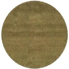 Mazon Tweed Green/Gold Area Rug Rug Size: Round 6'