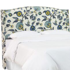 Haines Upholstered Wingback Headboard Size: Full