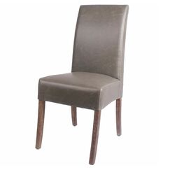 Kimberling Parsons Chair Finish: Drift Wood, Upholstery Color: Vintage Gray