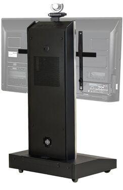 Moble Telepresence Stand with Monitor Mount for 50