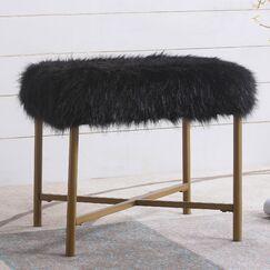 Becker Ottoman Upholstery: Black