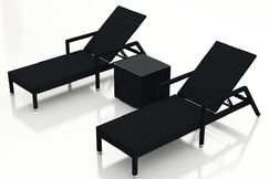 Urbana Reclining Chaise Lounge and Table