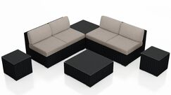 Urbana 8 Piece Sectional Set with Cushions Fabric: Canvas Flax