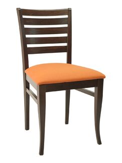 FLS Series Side Chair Color: Cherry, Upholstery Color: Chocolate Chip