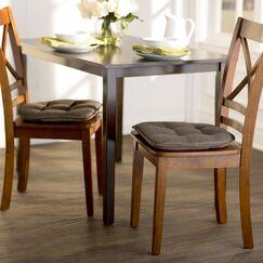 Wayfair Basics Gripped Chair Cushion Set Color: Chestnut