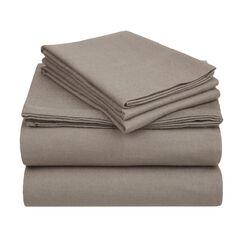 Wayfair Basics Flannel Sheet Set Color: Grey Solid, Size: Twin XL