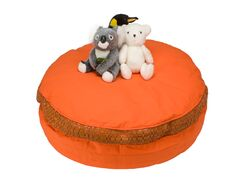 Bean Bag Chair Upholstery: Orange
