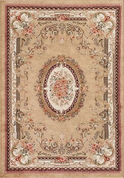 Traditional Beige Area Rug Rug Size: Rectangle 7'2