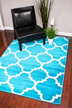 Turquoise Indoor/Outdoor Area Rug Rug Size: Rectangle 2' x 3'4