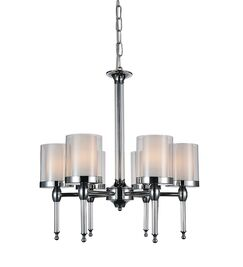 Maybelle 6-Light Shaded Chandelier