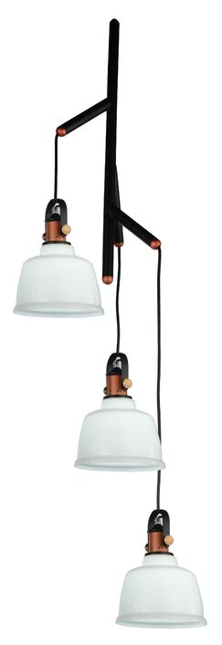 Tower Bell 3-Light Pendant Shade Color: White