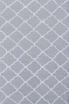 Handmade Gray Area Rug Rug Size: 4'7