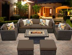 Eldredge 8 Piece Sectional Set with Cushions Color: Cocoa