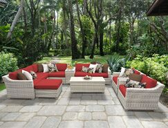Ansonia 12 Piece Sectional Set with Cushions Fabric: Terracotta