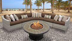 Ansonia 6 Piece Sofa Set with Cushions Color: Cocoa