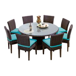 Eldredge 9 Piece Dining Set with Cushions Color: Aruba