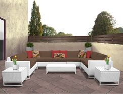 Miami 12 Piece Sectional Set with Cushions Fabric: Cocoa