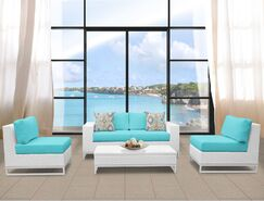 Miami 5 Piece Sofa Set with Cushions Fabric: Aruba