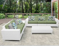 Miami 6 Piece Sofa Set with Cushions Color: Cilantro