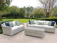 Fairmont 6 Piece Sofa Set with Cushions Color: White