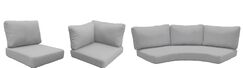 Florence 14 Piece Outdoor Cushion Set Fabric: Gray