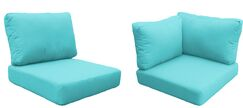 Barbados 15 Piece Outdoor Cushion Set Fabric: Aruba