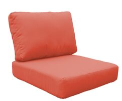 Barbados 4 Piece Outdoor Lounge Chair Cushion Set Fabric: Tangerine