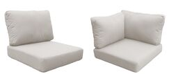 Miami 11 Piece Outdoor Cushion Set Fabric: Beige