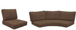 Florence 14 Piece Outdoor Cushion Set Fabric: Cocoa