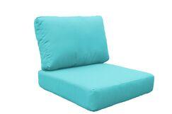 Miami 10 Piece Outdoor Lounge Chair Cushion Set Fabric: Aruba