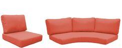 Florence 14 Piece Outdoor Cushion Set Fabric: Tangerine