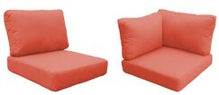 Florence 13 Piece Outdoor Cushion Set Fabric: Tangerine