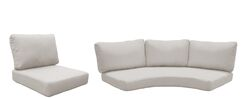 Barbados 10 Piece Outdoor Cushion Set Fabric: Beige