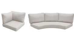 Florence 10 Piece Outdoor Cushion Set Fabric: Beige