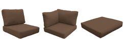 Barbados 14 Piece Outdoor Cushion Set Fabric: Cocoa