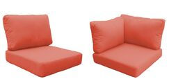 Miami 15 Piece Outdoor Cushion Set Fabric: Tangerine