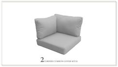 Capecod Outdoor Replacement Cushion Set Fabric: Gray