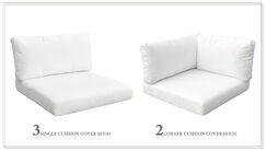 Monterey Outdoor 12 Piece Lounge Chair Cushion Set Fabric: White