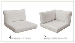 Monaco 14 Piece Outdoor Cushion Set Fabric: Beige